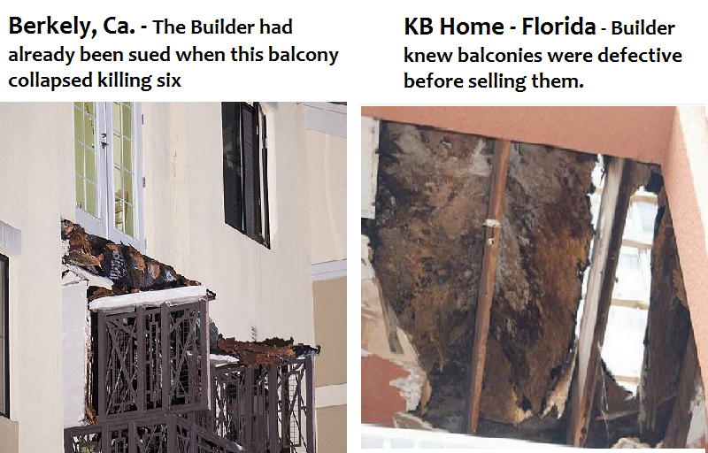 balconies collapsed